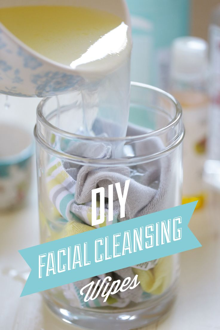 DIY Homemade Reusable Facial Cleansing Wipes