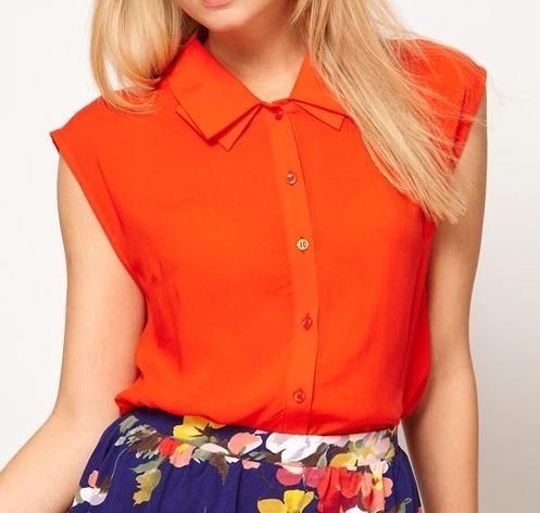 Женская оранжевая блузка