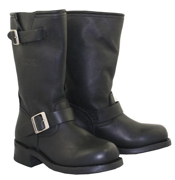 Top quality full grain leather is used to make the most technologically advanced Ladies Motorcycle Biker Engineer boot ever. Great classic look of 13 inch engineer biker boot (13 inches from heel to top, full 11 inch leather shaft). Good Year Welt Construction boots (long term durability, resole-able, better comfort when wore in). This is the most technologically advanced ladies biker boot built for long-term durability, comfort, and protection. Exclusive to LeatherUp.