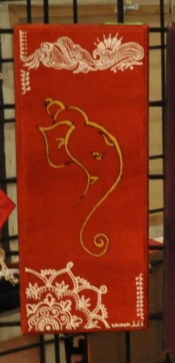 Ganesh Painting - abstract, henna style. @ Bala Thiagarajan, 2012