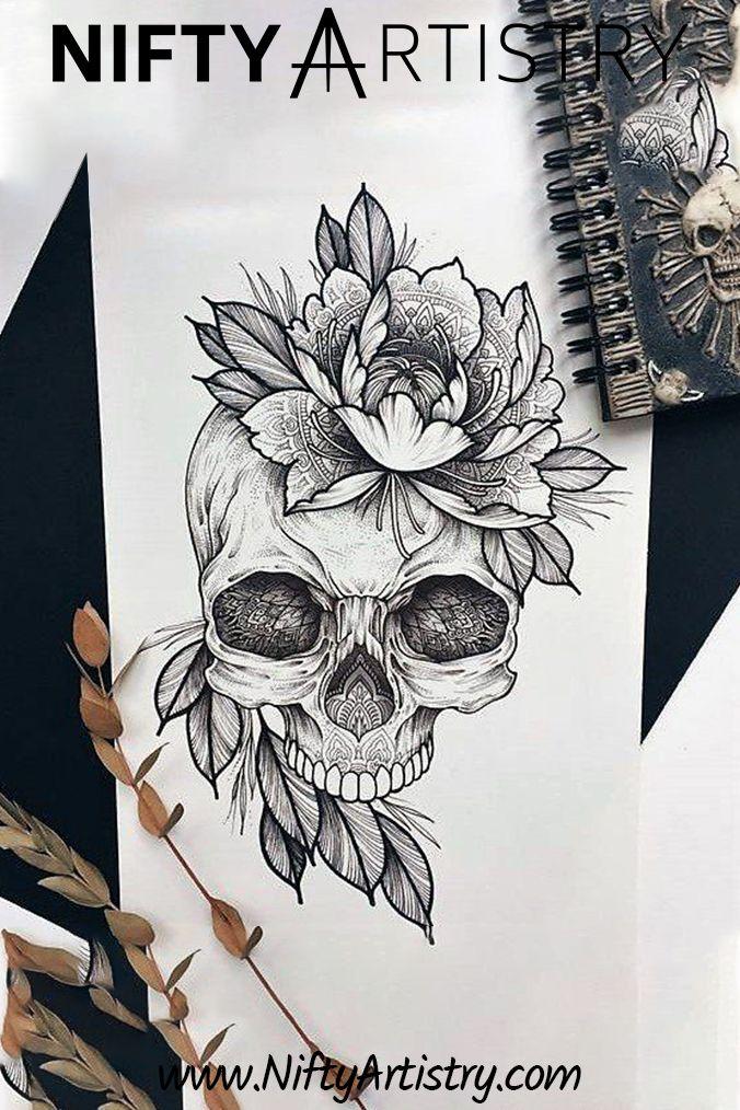 New Skull Drawing Tattoos Skull Tattoos Skull Drawing