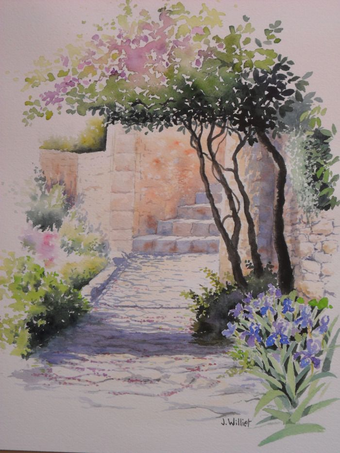Epingle Sur Aquarelle Vaucluse