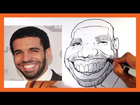 How to Caricature Drake - Easy Pictures to Draw - YouTube