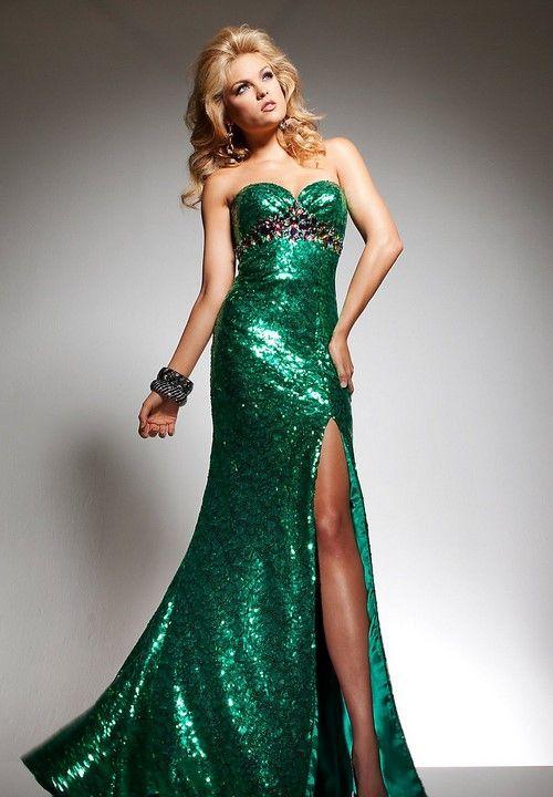 1b172b70131 Красивые зеленые платья в пол 2018-2019. Модные вечерние платья зеленого  цвета на выпускной