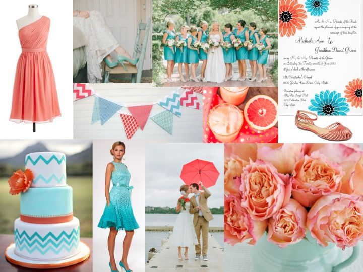 Coral And Turquoise Wedding: 17 Best Images About Coral & Malibu Blue Wedding On