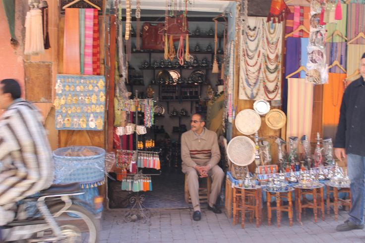 A man and his shop, Marrakech by Phoebe Chetwynd-Talbot
