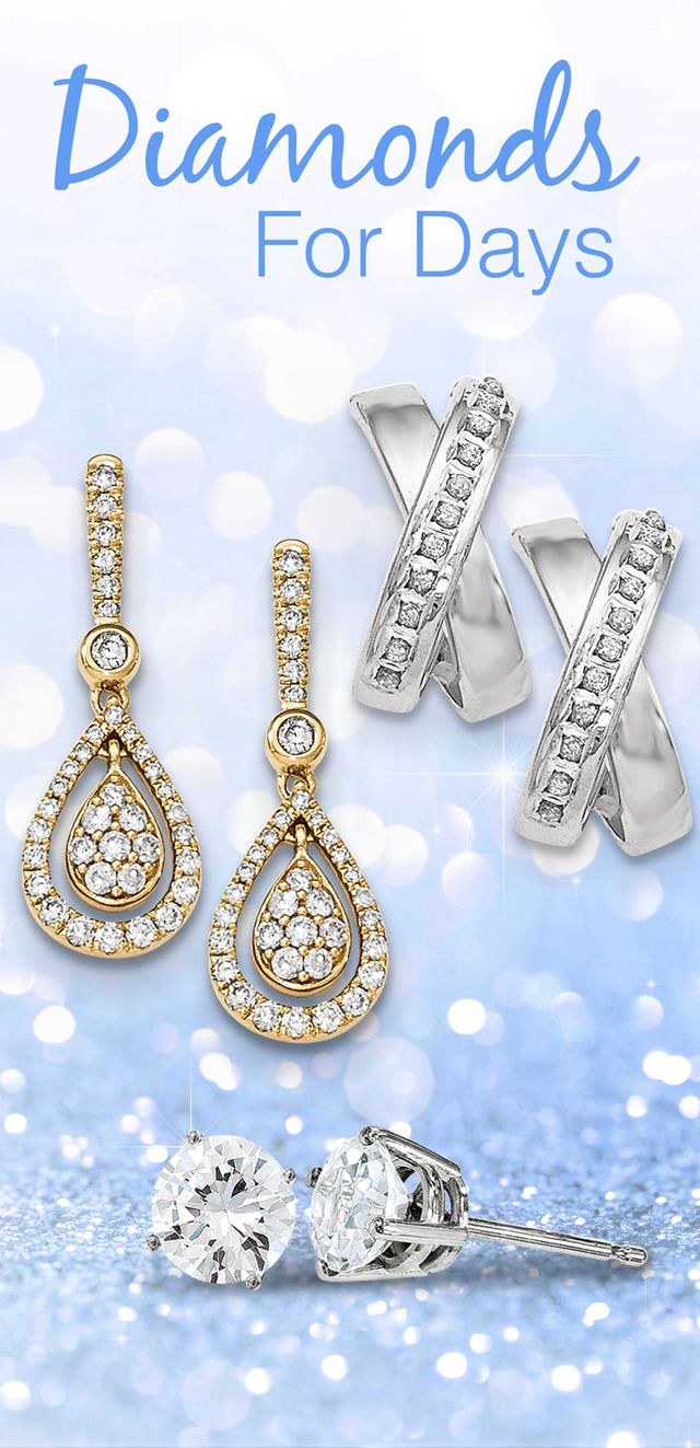 Compliment Your Best Selling Diamond Tennis Bracelet with our Best Selling Diamond Earrings #DiamondsforDays #SaturdaySwag #Bestseller #Diamonds 💎💎💎 #Bling #Earrings #Gifts #holiday #christmas #fashion #style