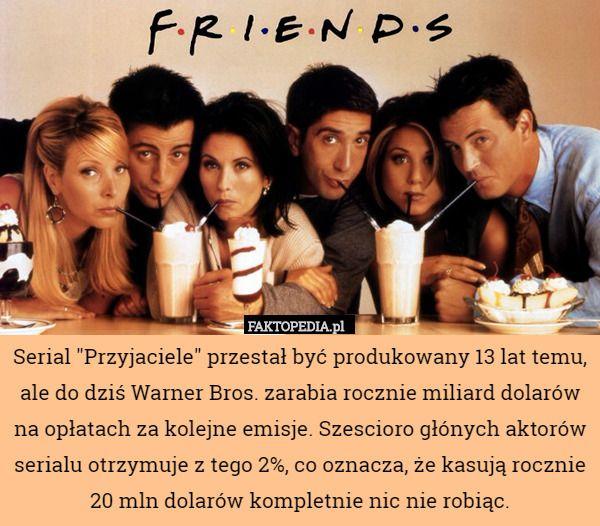 """Serial """"Przyjaciele"""" przestał być produkowany 13 lat temu, ale"""