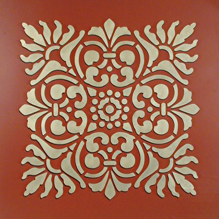 wall stencil - looks like tiles | large sicilia | royal design studio