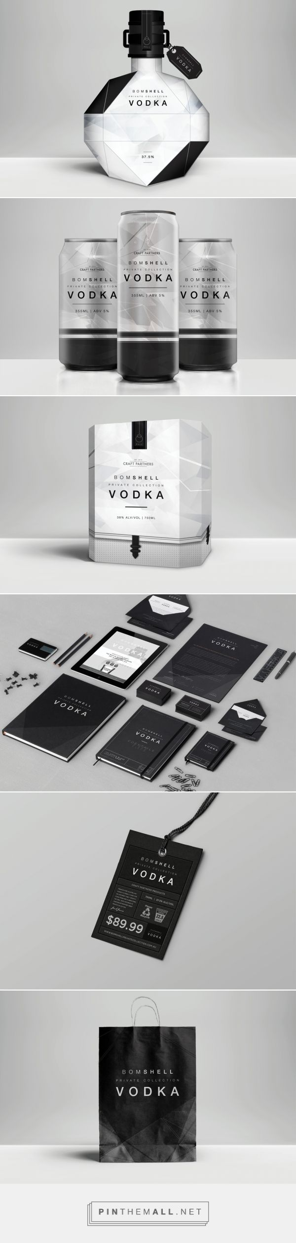 Bomshell Vodka by Scott Francis Murray curated by Packaging Diva PD. Private collection packaging.