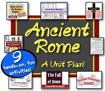 Ancient Rome Unit:  A unit full of engaging, student-centered activities!