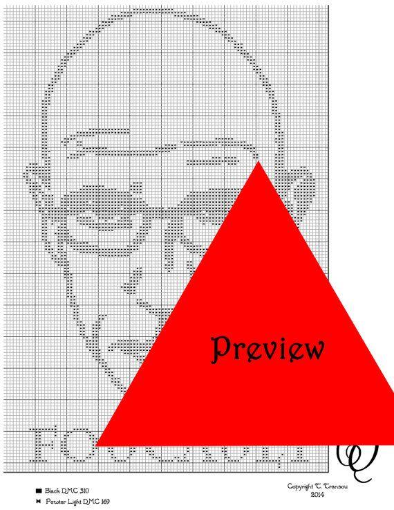 Michel Foucault Cross Stitch Pattern PDF on Etsy, $2.50