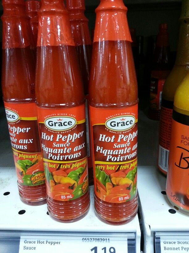 Product: Grace hot pepper sauce. Store: FreshCo (Bunting Road, St. Catharines).  Some hot sauces are low in FODMAPs (like the product above).  Check ingredient labels however as some have onion or garlic, which makes them high FODMAP.  Neal Glauser, RD