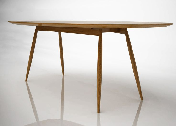 Table ovale manger en bois moualla table ovale karre - Table a manger en bois ...