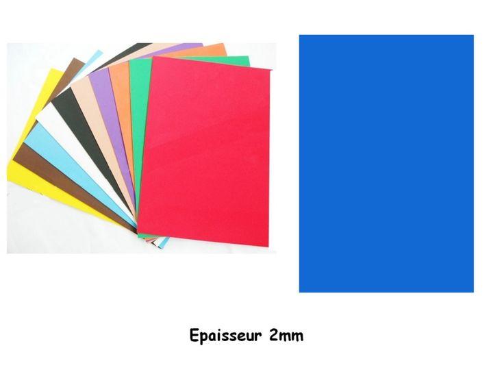 Plaque type Crepla Mousse Bleu 2mm - Loisirs Créatifs/Plaque Mousse Caoutchouc EVA CREPLA - MaGommette