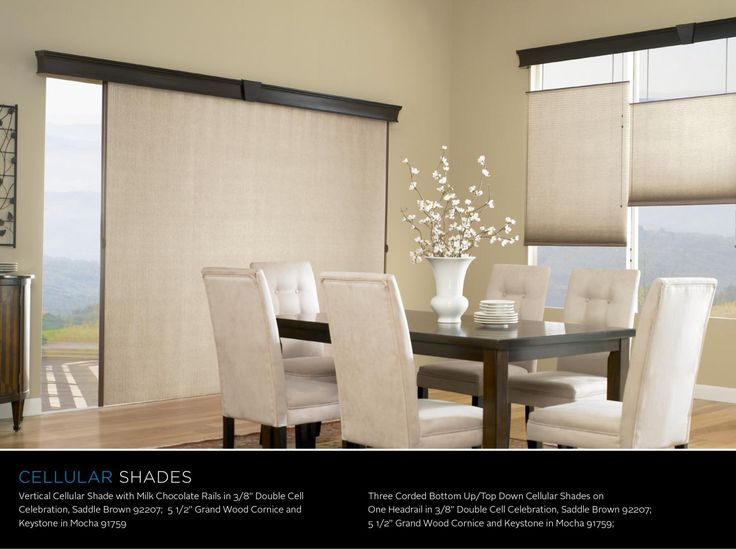 This is one of the most awesome features!!! Take your Signature Series Cellular Shades VERTICAL!!! Cover that sliding door and add some top down, bottom up Cellular Shades that match to your windows for a fantastic look! Only from your local Budget Blinds franchisee!