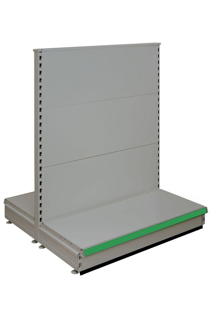 Caem S50 Modular Shelving - Basic Gondola Shelving - Silver Ral 9006