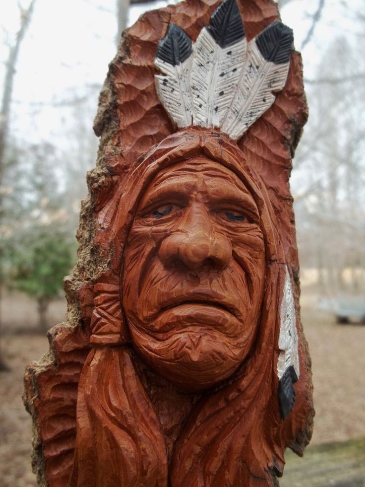 Best carved wood indians images on pinterest