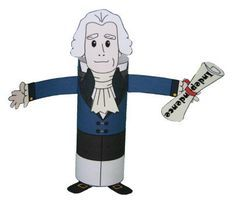 Thomas Jefferson Toilet Paper Roll Craft