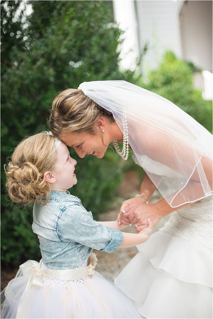 Such An Adorable Moment Between A Bride And Her Flower