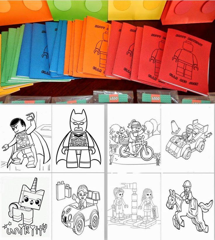 Lego Party Favor: Coloring Book