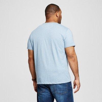 Men's Big & Tall V-Neck Jersey T-Shirt - Merona Blue 3XB Tall, Size: 3X Big Tall