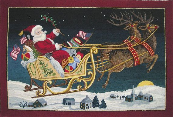 1000+ ideas about Hooked rugs-Santa on Pinterest | Rug Hooking ...