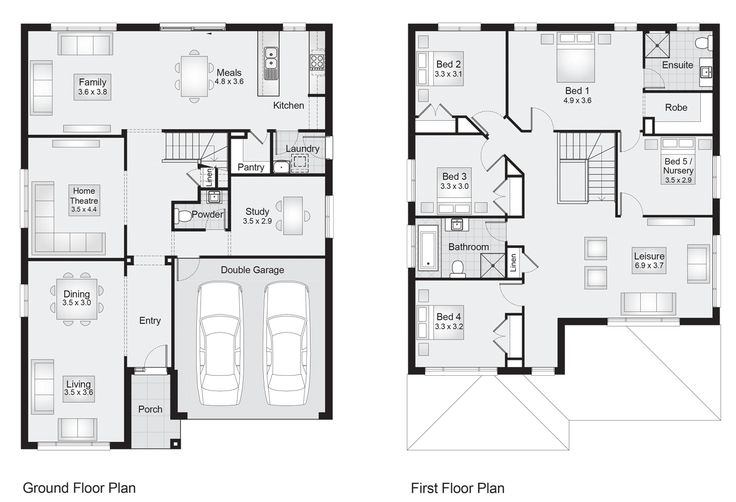 Wentworth 33    Floor Plan - 303.00sqm, 11.30m width, 15.50m depth    Clarendon Homes Floor Plans