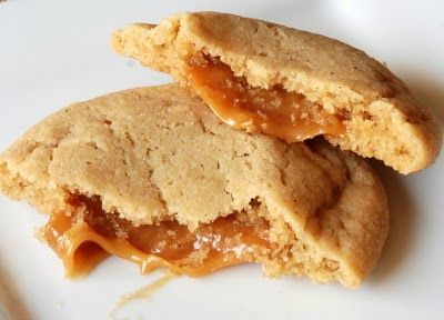 Scrambled Henfruit: Caramel Stuffed Apple Cider Cookies    maybe I'll make this for my BF if he's lucky!