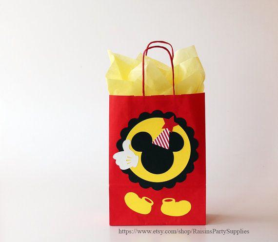 Mickey Mouse favor bags Mickey Mouse por RaisinsPartySupplies