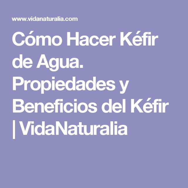 Cómo Hacer Kéfir de Agua. Propiedades y Beneficios del Kéfir   VidaNaturalia