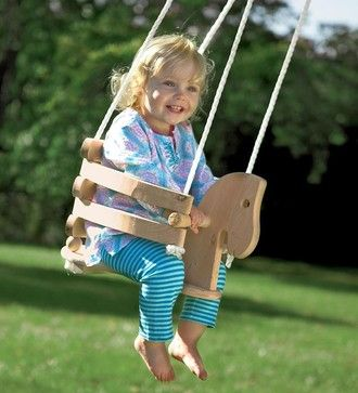 Wooden Horse Swing - contemporary - baby swings and bouncers - Magic Cabin