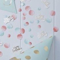Happy Birthday Foiled & Ombre Table Confetti - Pick and Mix