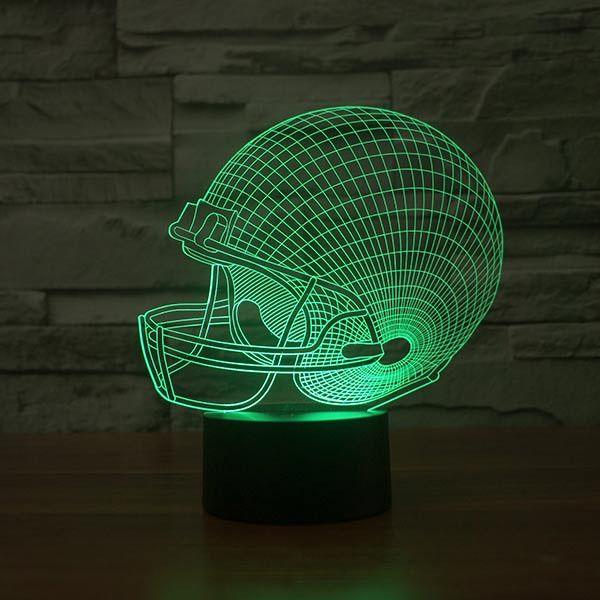 Football Cap Colorful 3D LED Lamp