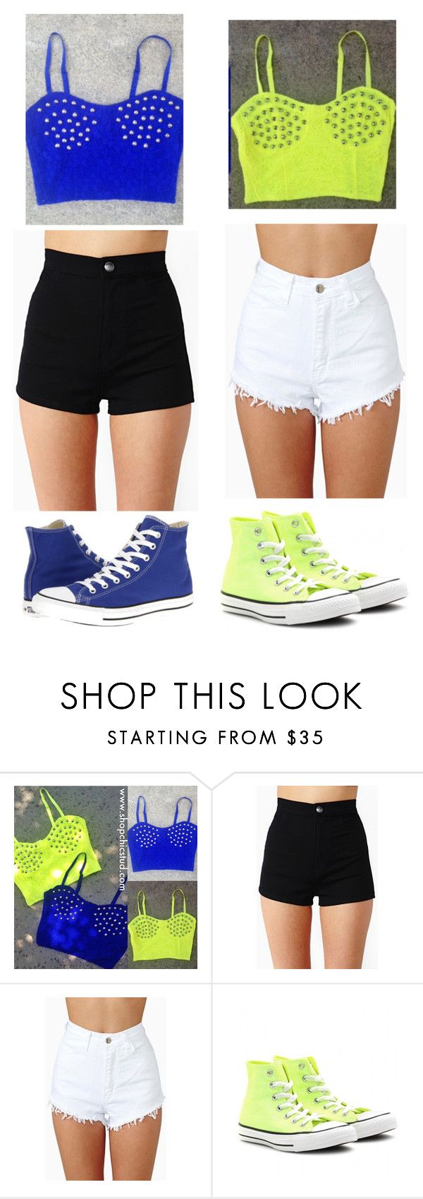 Best friends matching outfits ❤ by cristen-wyatt on Polyvore featuring Converse