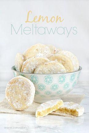 Biscotti al limone che si sciolgono in bocca ricetta Lemon meltaways recipe