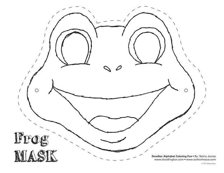 Lovely Frog Cut Out Template | Frog Mask Colouring Pages