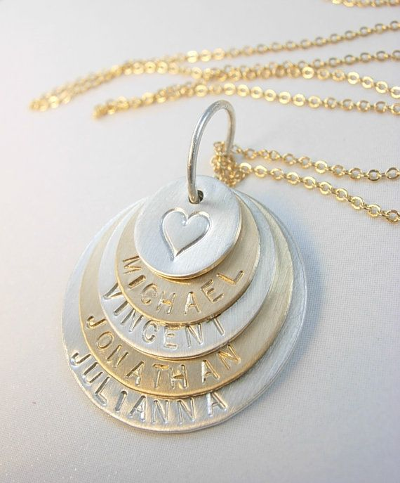 Hand Stamped Jewelry Personalized Mommy Necklace by nalujewelry, $85.00