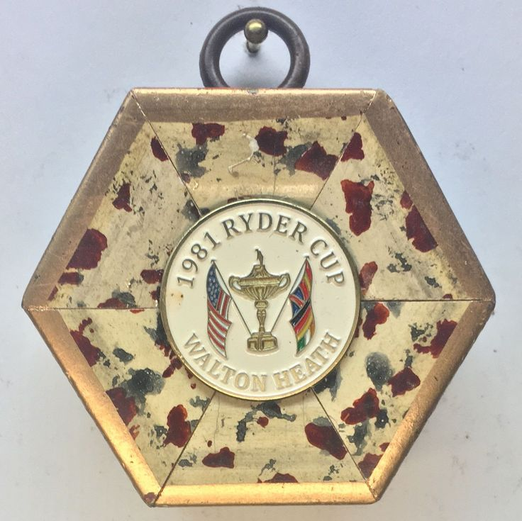 "Speckled Frame with Ryder Cup Ball Marker (2.25"" wide)"