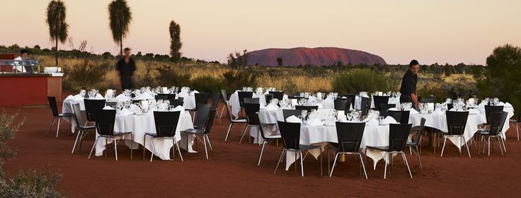 Sounds of Silence.  Dinner under the canopy of the desert night with Ayers Rock in view slowly entering the night and watching the stars bloom!  One of the top 10 experiences in my life!