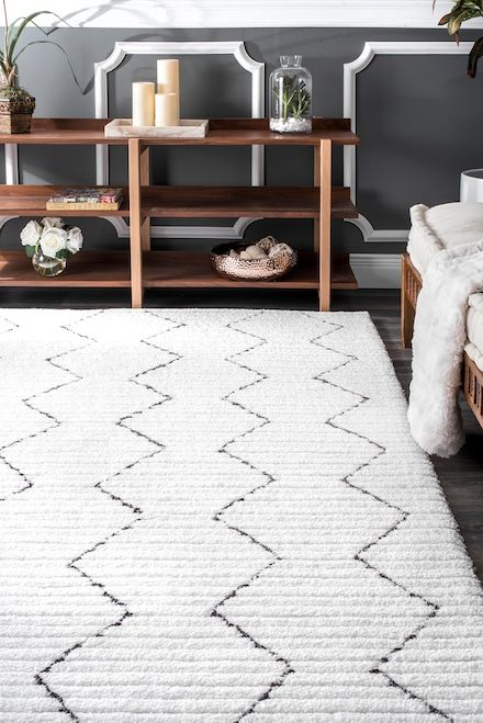Bring in the simple yet elegant contemporary feel to your interiors with this hand-tufted, 100 percent polyester rug. The high-low texture brings depth and dimension to your favorite space besides being highly durable.