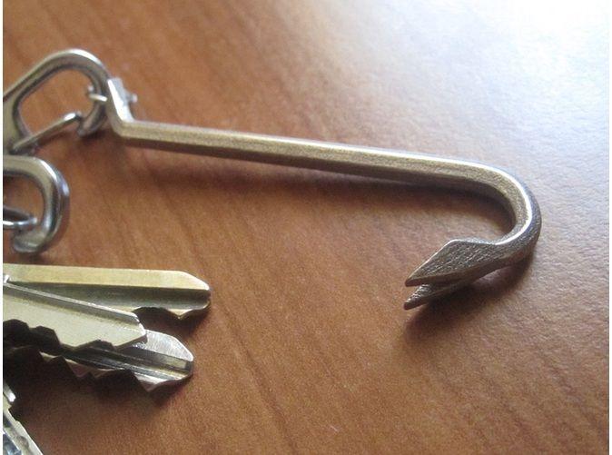 Keychain Mini Crowbar Tool - Medium 3d printed Jewelry Keychains