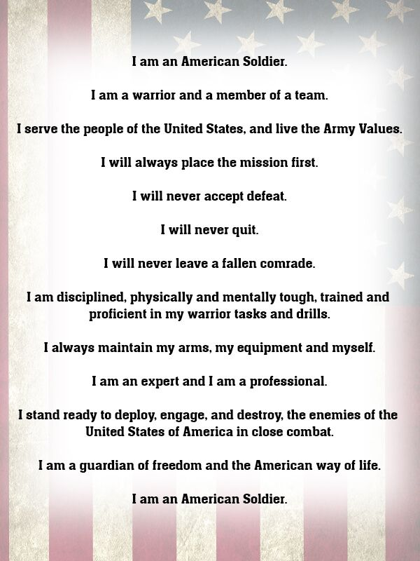 What Is The Soldier S Creed Soldiers Creed Soldier Army Humor