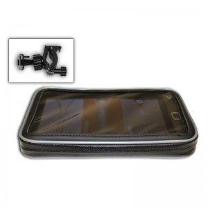 """Soporte y funda para moto y bici de 7″ (Waterproof) Con soporte universal para moto y bicicleta Dispone de adaptadores para ajustar tu dispositivo a la funda.   Especificaciones  Impermeable Compatible con GPS, tablet y navlet de hasta 7"""" Smartphone Teléfono móvil MP3 Medidas interiores de la funda:192.40(L)*118.90(W)*11.50(H) mm Medida máxima de grosor de manillar: 38 mm http://www.vexia.eu/es/"""