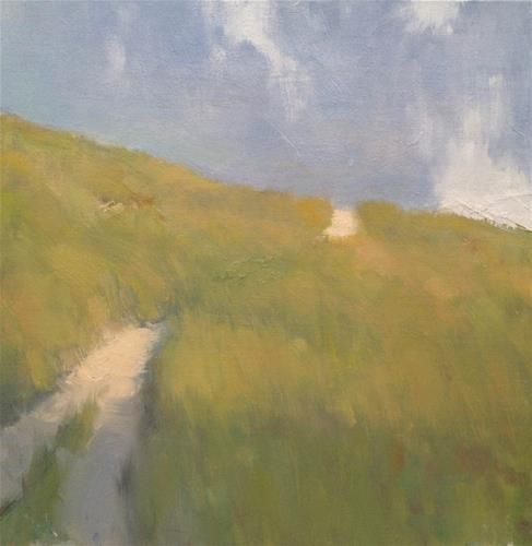 """Daily+Paintworks+-+""""Over+the+Hill""""+-+Original+Fine+Art+for+Sale+-+©+Steve+Allrich"""