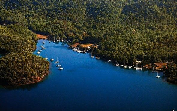 The Most Beautiful Bays of Turkey - Protected Coves by the Bördübed Port, Gökova, Mugla.