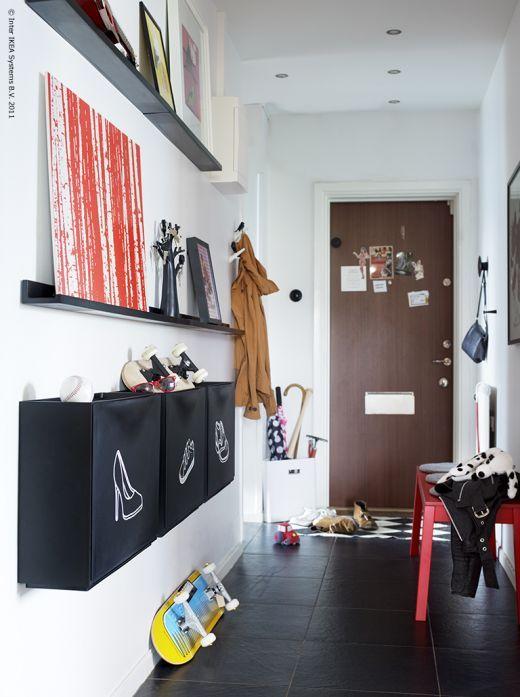 Indretning-interioer-Boligcious-design-boligindretning-interior-møbler-furnitures- Malene-Moeller-Hansen-Indretningsdesigner, brugskunst-entré-hall-opbevaring-storage-skoskab-Ikea