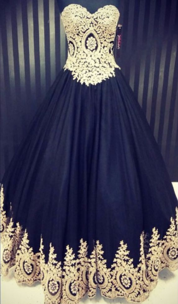 Vintage Prom Dresses Real Photos Black Tulle Gold