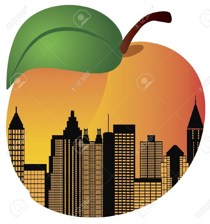 atlanta skyline peach
