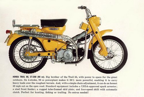 1965 Honda Trail 90 . what it originally looked like. Try to keep to the past